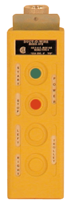 RPB Pushbutton Station, 4-Btn, Maintained On/Off, w/ (2) Single-Spd, Model No. RPB-1-1M
