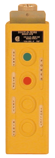 RPB Pushbutton Station, 4-Btn, Maintained On/Off, w/ (2) Two-Spd, Model No. RPB-1-2AM