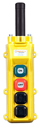 Conductix, 80 Series 4-Button Pendant, All Single Speed with Maintained On/Off, Part No XA-34218