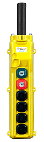 Conductix, 80 Series 6-Button Pendant, All Single Speed With Maintained On/Off, Part No XA-34227