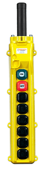 Conductix, 80 Series 8-Button Pendant, All Single Speed With Maintained On/Off, Part No XA-34236