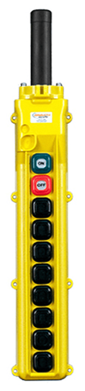 Conductix, 80 Series 10-Button Pendant, All Three Speed with Momentary On/Off, Part No XA-34248