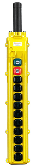 Conductix, 80 Series 12-Button Pendant, All Three Speed with Maintained On/Off, Part No XA-34258
