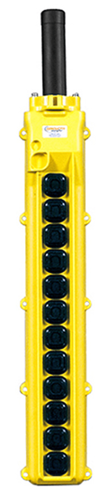 Conductix, 80 Series 12-Button Pendant, All Two Speed, Part No XA-34260