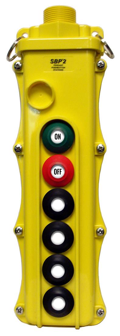 Magnetek 6-Btn SBP2 Pendant Station w/ Momentary On/Off