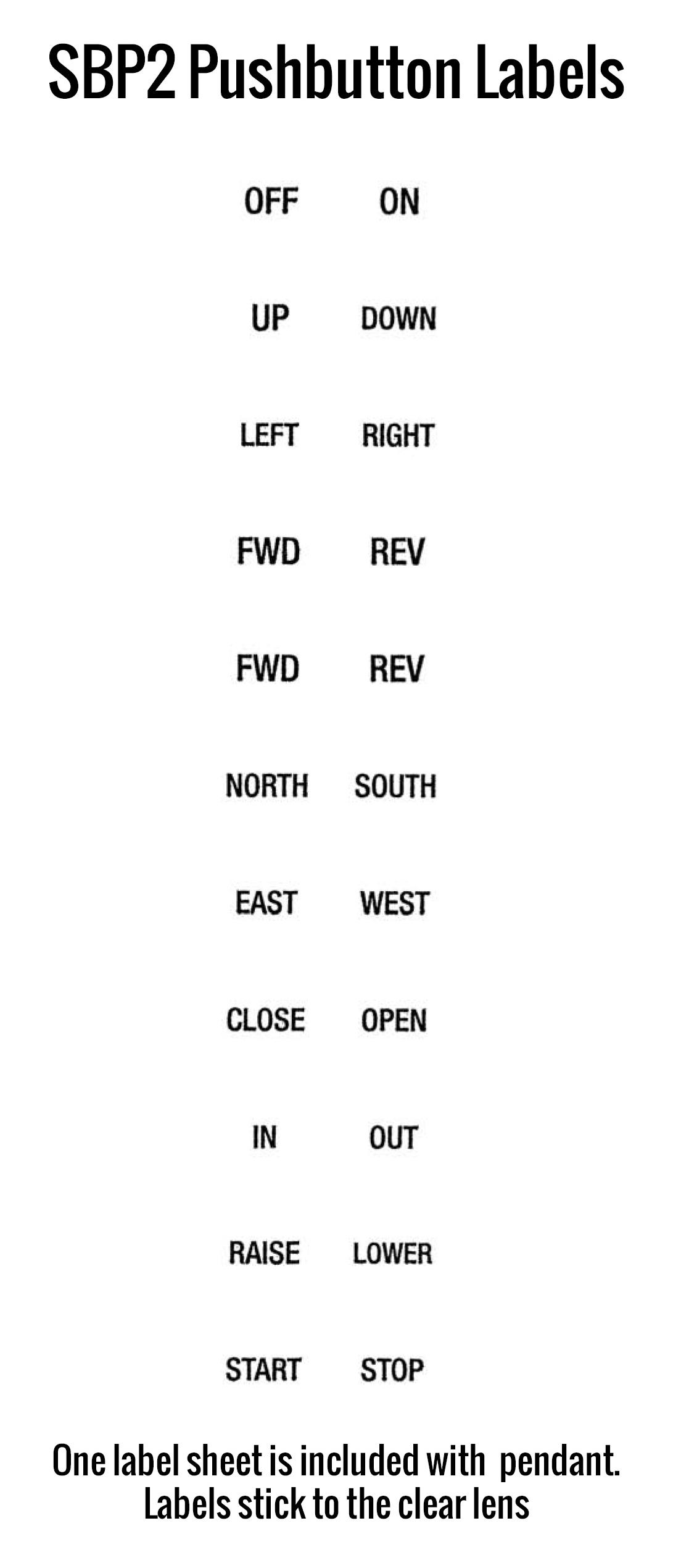 SBP2 Pendant Labels