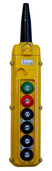 Magnetek 6-Button SBN Pendant Station w/ Momentary On/Off