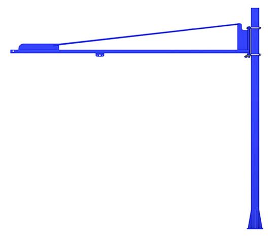 Gorbel TSJ50 Free Standing Tool Balancer Jib Crane