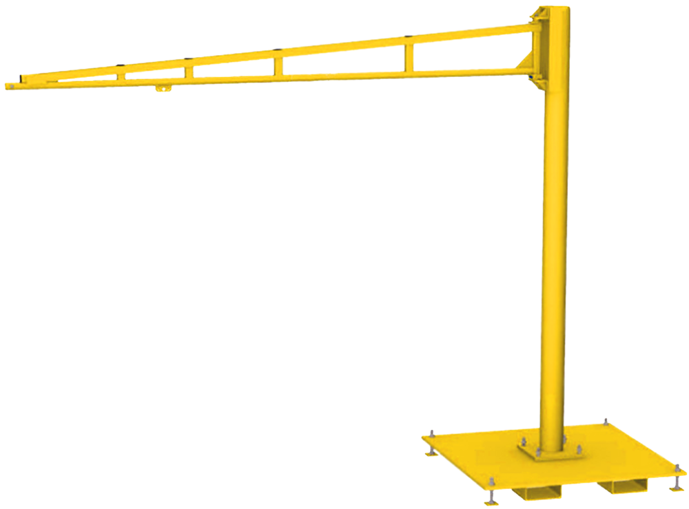 Gorbel TSJ150 Free Standing Tool Balancer Jib Crane with Portable Base