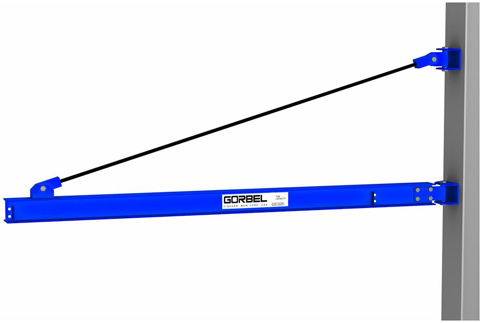 Gorbel Wall Bracket I-Beam Jib Crane