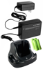 Rechargeable NiMH battery combo kit, includes 4 batteries and 1 charger