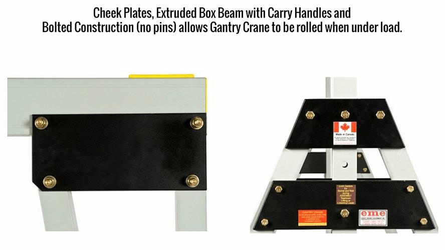 eme Gantry Crane Bolted Cheek Plates