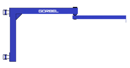 Gorbel AJ200 Wall Mounted Articulating Jib Crane