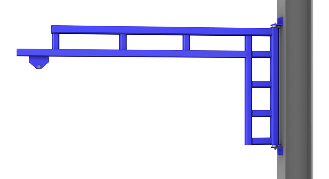 Gorbel WSJ200 Wall Mounted Work Station Jib Crane with Column