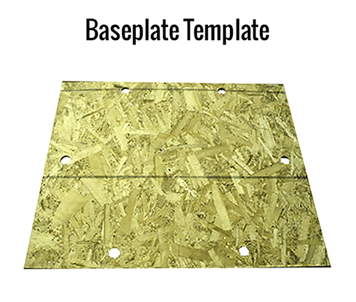 Gorbel Baseplate Template
