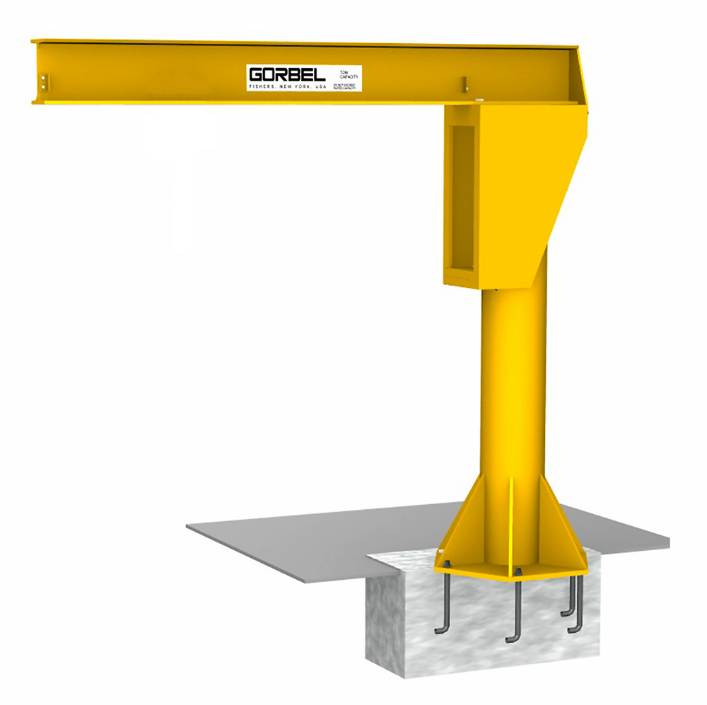 Gorbel FS300 Free Standing Jib Crane with Footer
