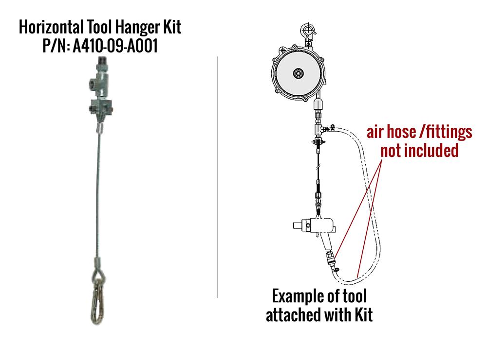 Horizontal Tool Hanger - A410-09-A001