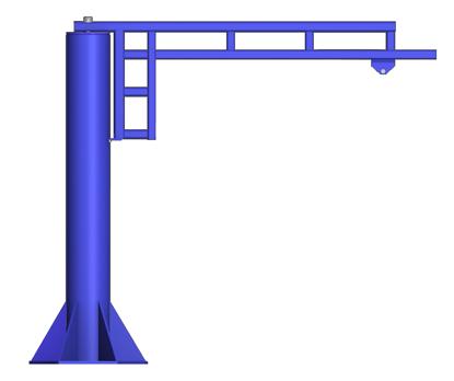 Gorbel WSJ360 Free Standing Work Station Jib Crane
