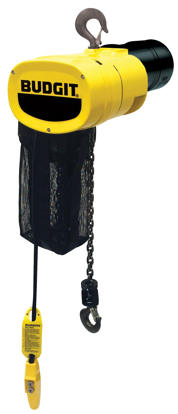 Budgit Man Guard Electric Chain Hoist with Hook Mount