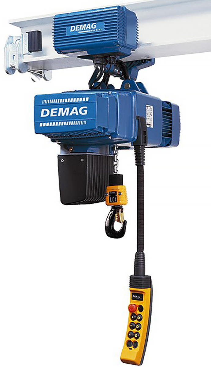 Demag DC-Com Electric Hoist with Motorized Trolley