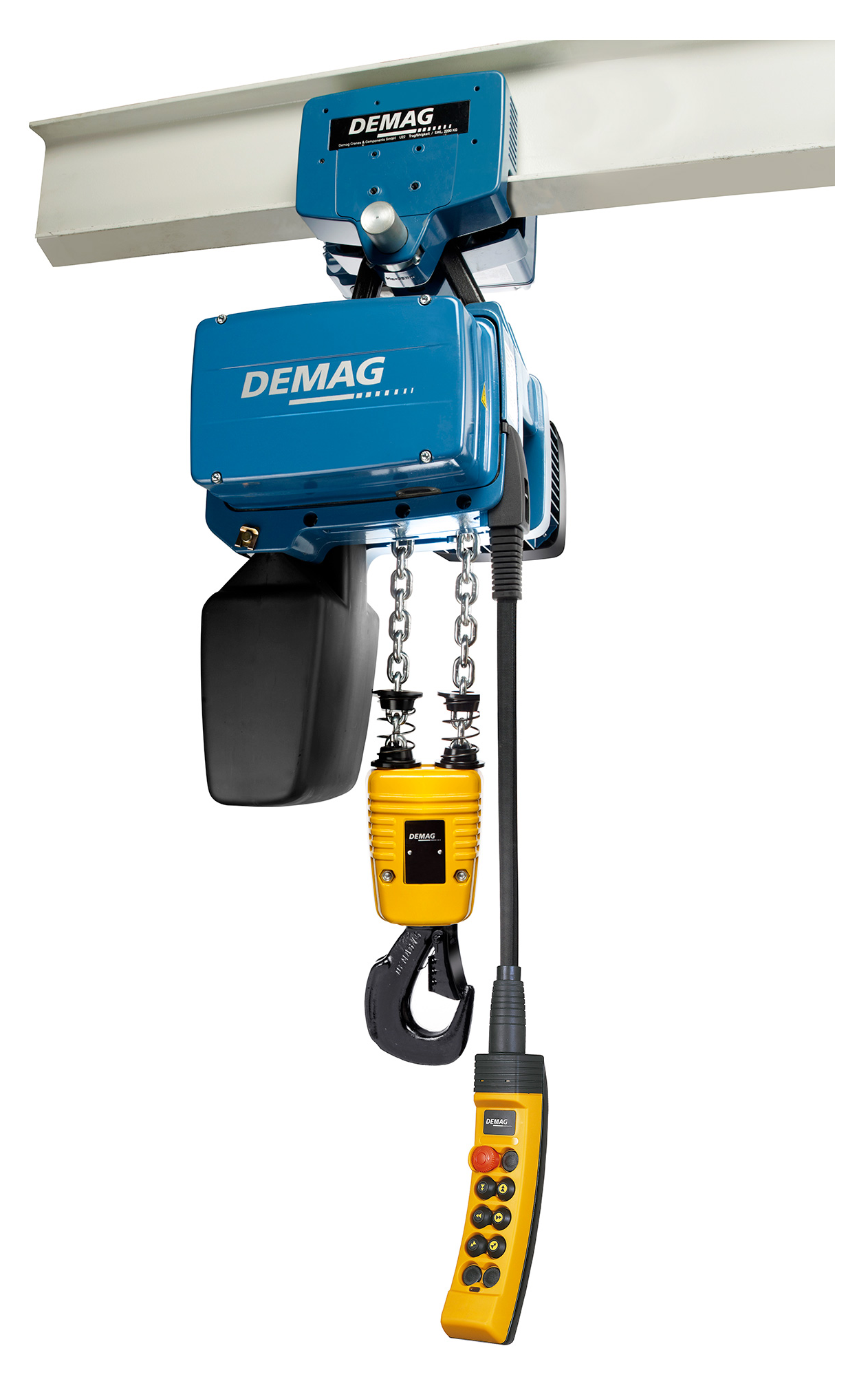 Demag DC-Pro Electric Chain Hoist with Push Trolley