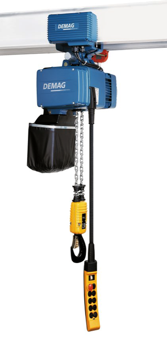 Demag DC-Pro Electric Chain Hoist with Motorized Trolley