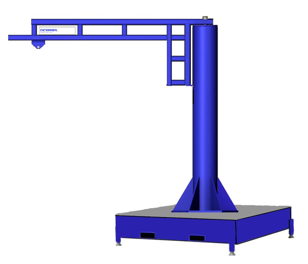 Gorbel WSJ360 Free Standing Work Station Jib Crane with Portable Base