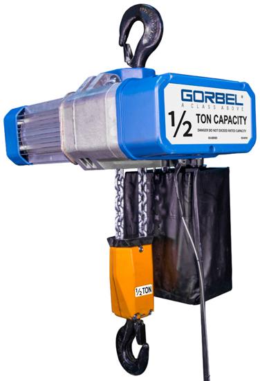 1/2-Ton Gorbel GS Electric Chain Hoist, GECH-1/2, 2 Chain Falls