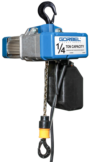 1/4-Ton Gorbel GS Electric Chain Hoist, Single Phase, GECH-1/4-S